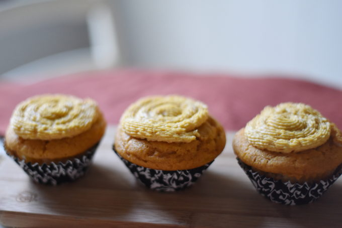 Pumpkin Cheesecake Cupcakes | Feathers in Our Nest