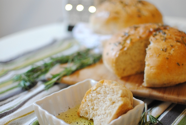 Rosemary Peasant Bread Recipe | Feathers in Our Nest