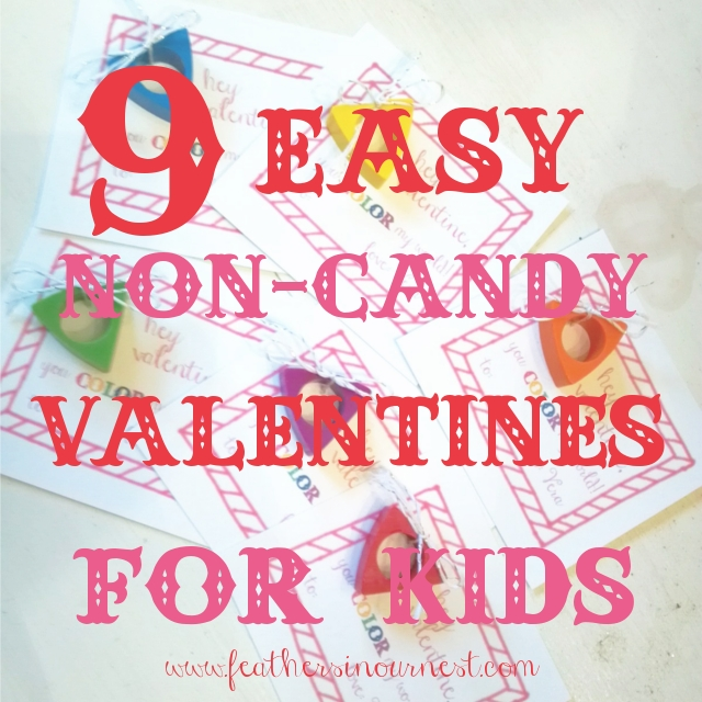 More Noncandy Valentines for Kids Feathers in Our Nest – Easy Valentine Cards for Kids
