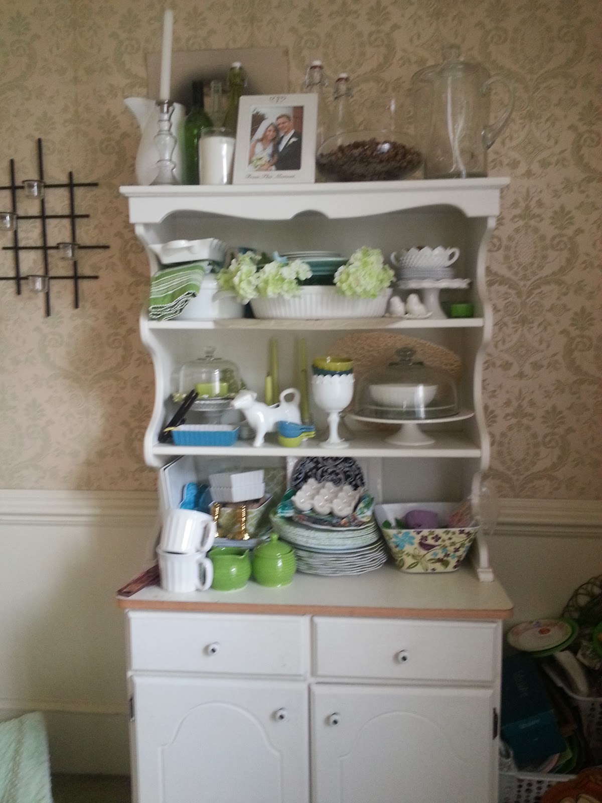 Styled Dining Room Hutch
