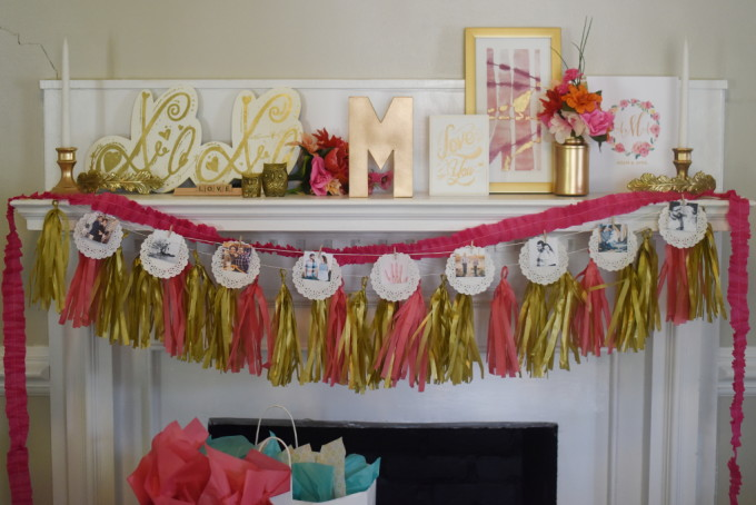 gold and floral bridal shower | Feathers in Our Nest