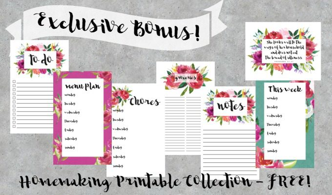 Exclusive Bonus Offer for Feathers in Our Nest readers - FREE Homemaking Printable Collection