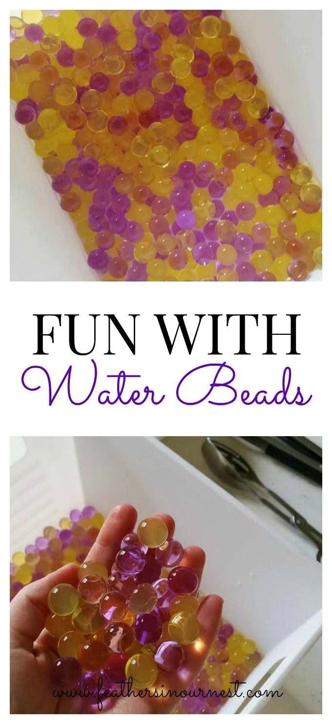 Water beads can keep preschoolers entertained for hours, providing sensory play and scope for the imagination. | Feathers in Our Nest