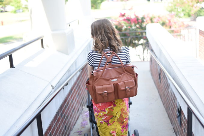 Lily Jade Elizabeth Diaper Bag in Camel - what a perfect bag! On my wish list for sure. I love the backpack carry! | Feathers in Our Nest