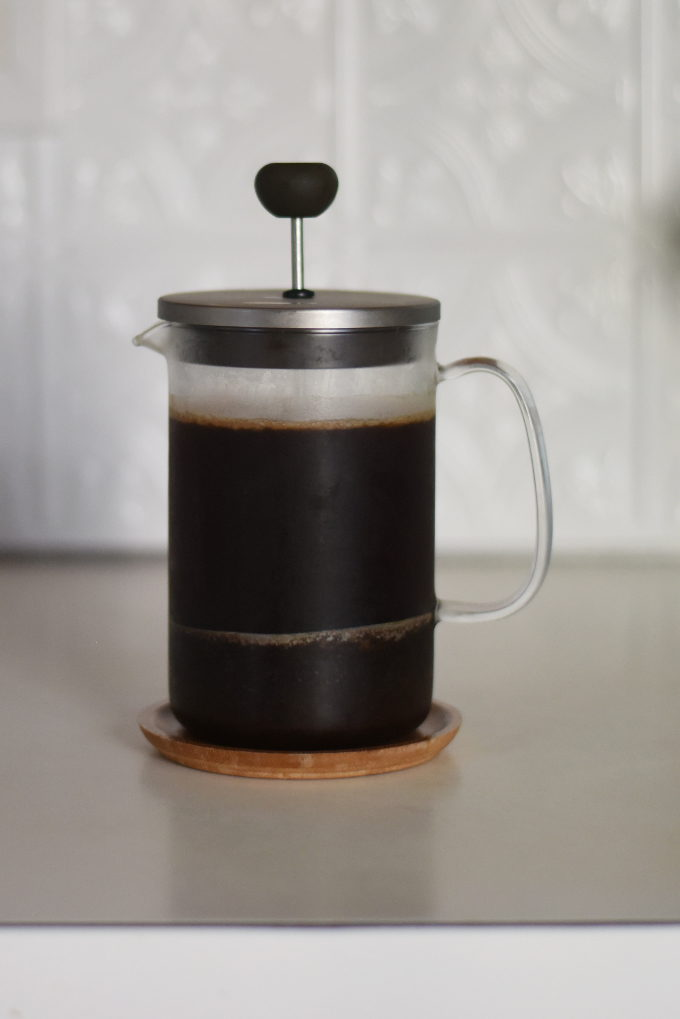 Perfect Cold Brew Coffee at Home! Easy DIY recipe using a French Press | Feathers in Our Nest