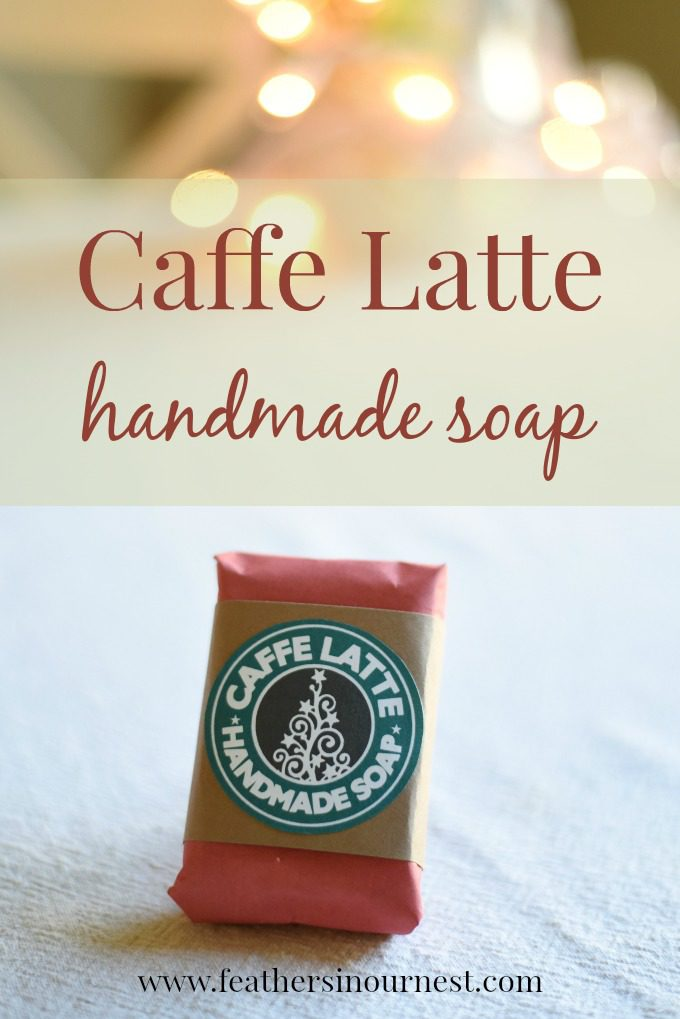DIY Caffe Latte Handmade Soap - great gift idea! | Feathers in Our Nest