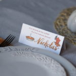 Printable Thanksgiving Conversation Place Cards | fun & whimsical design | easy to print & use to decorate your Thanksgiving table! | Thanksgiving conversation starters | Feathers in Our Nest