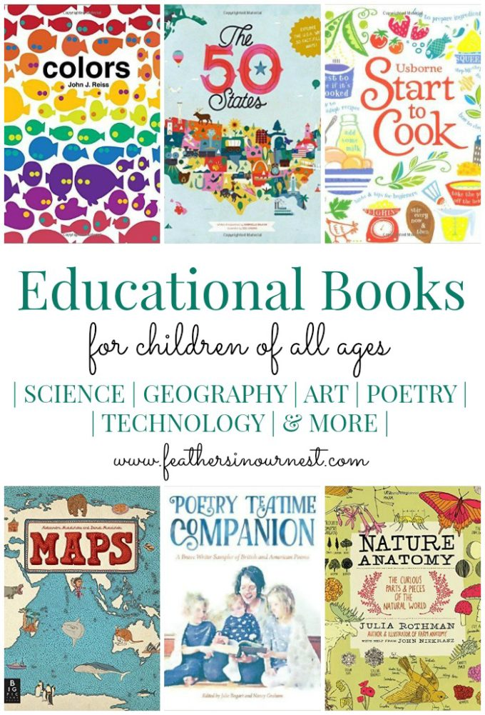 Educational Books for Kids of All Ages | Non-fiction books to inspire a love of learning! | Feathers in Our Nest